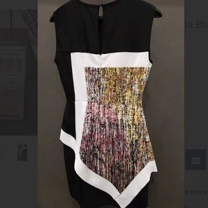 BCBGMazAzria Alessandra Asymmetrical Dress